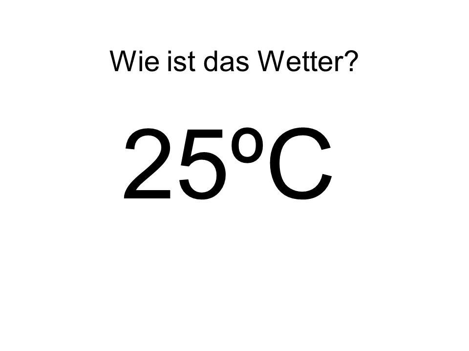 Wie ist das Wetter 25ºC