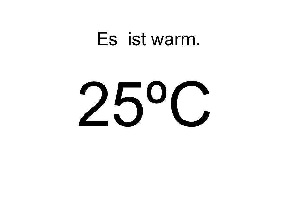 Es ist warm. 25ºC