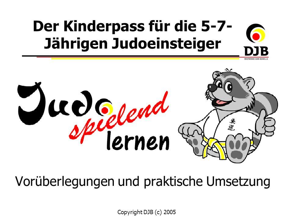 Der Kinderpass für die 5-7-Jährigen Judoeinsteiger