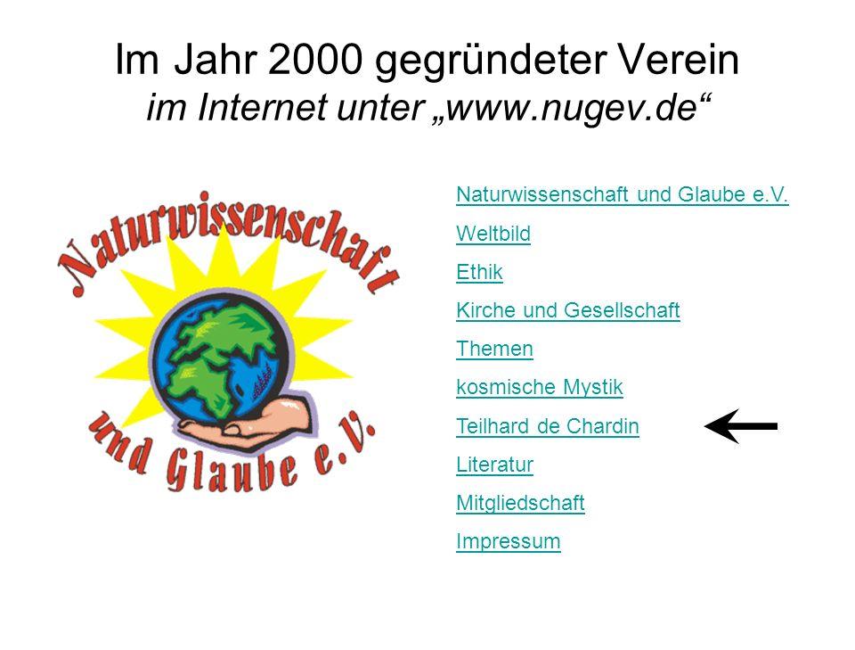 """Im Jahr 2000 gegründeter Verein im Internet unter """"www.nugev.de"""