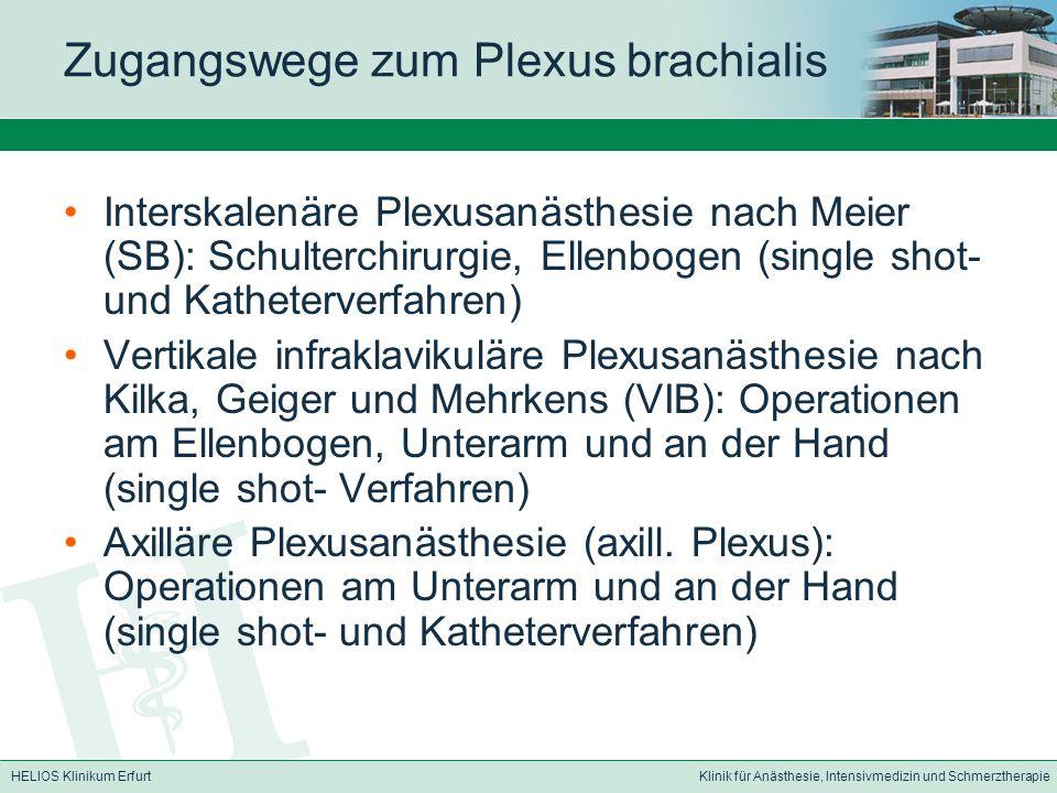 Zugangswege zum Plexus brachialis