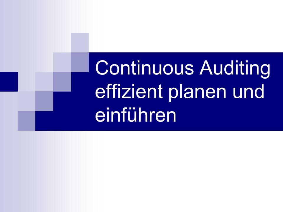Continuous Auditing effizient planen und einführen