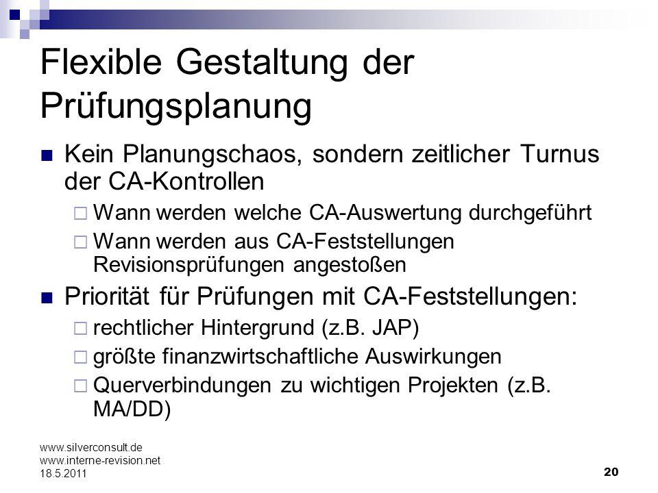 Flexible Gestaltung der Prüfungsplanung