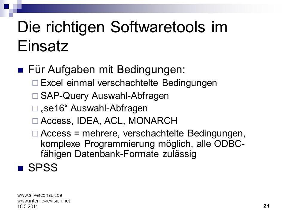 Die richtigen Softwaretools im Einsatz