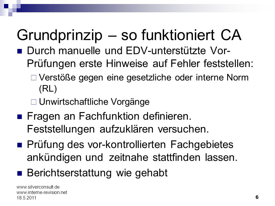 Grundprinzip – so funktioniert CA