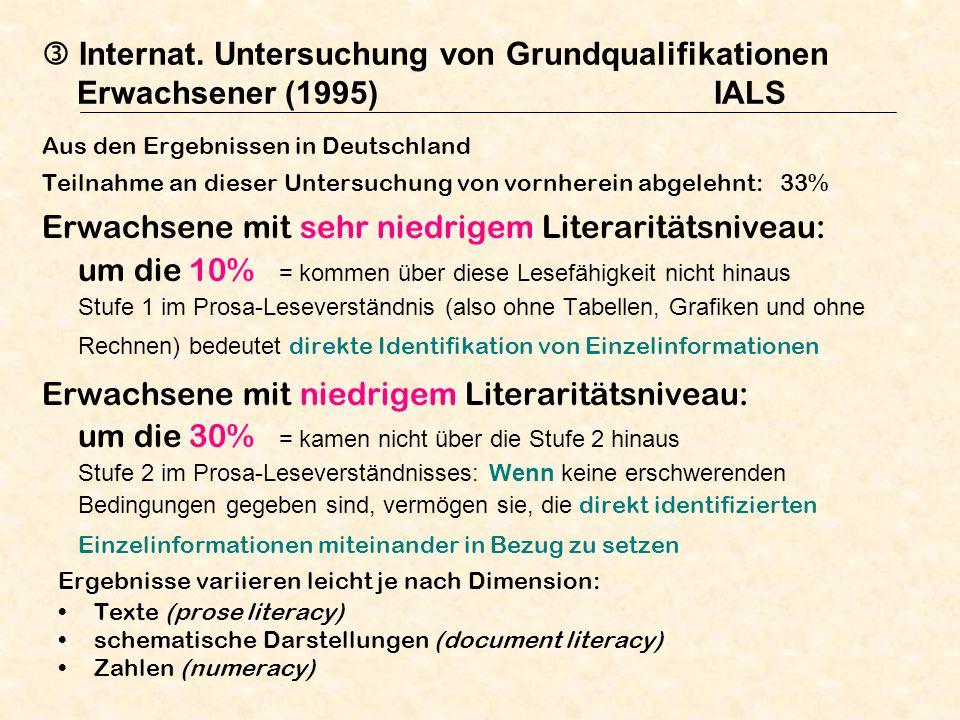  Internat. Untersuchung von Grundqualifikationen Erwachsener (1995)