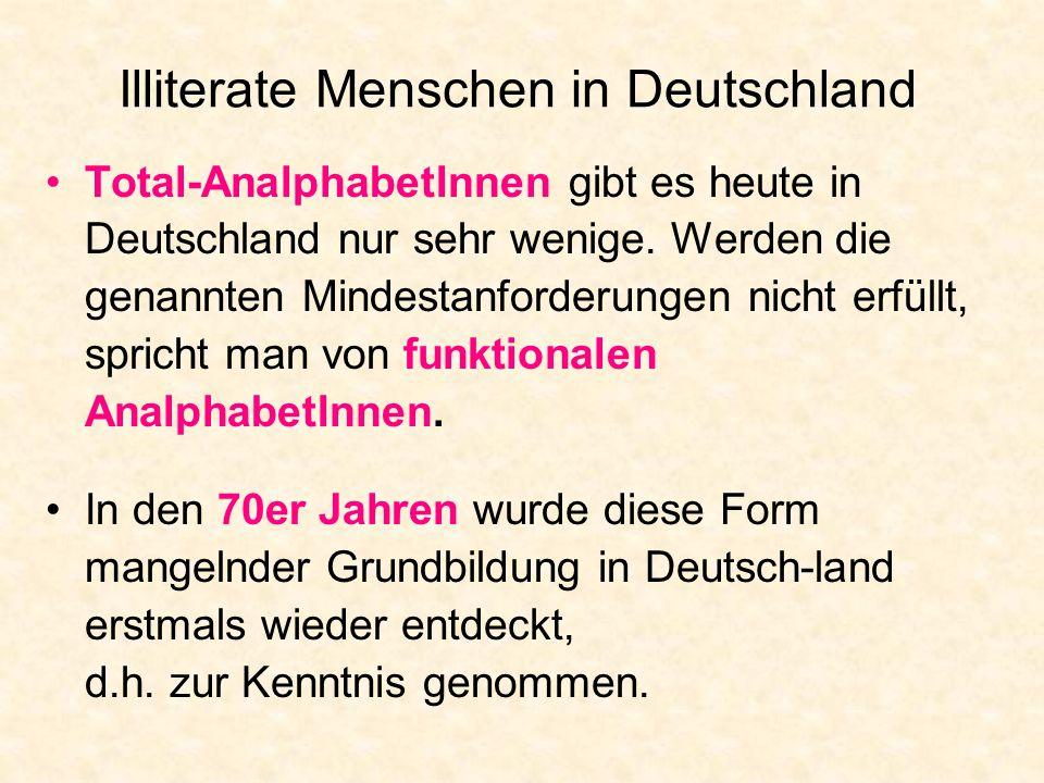 Illiterate Menschen in Deutschland