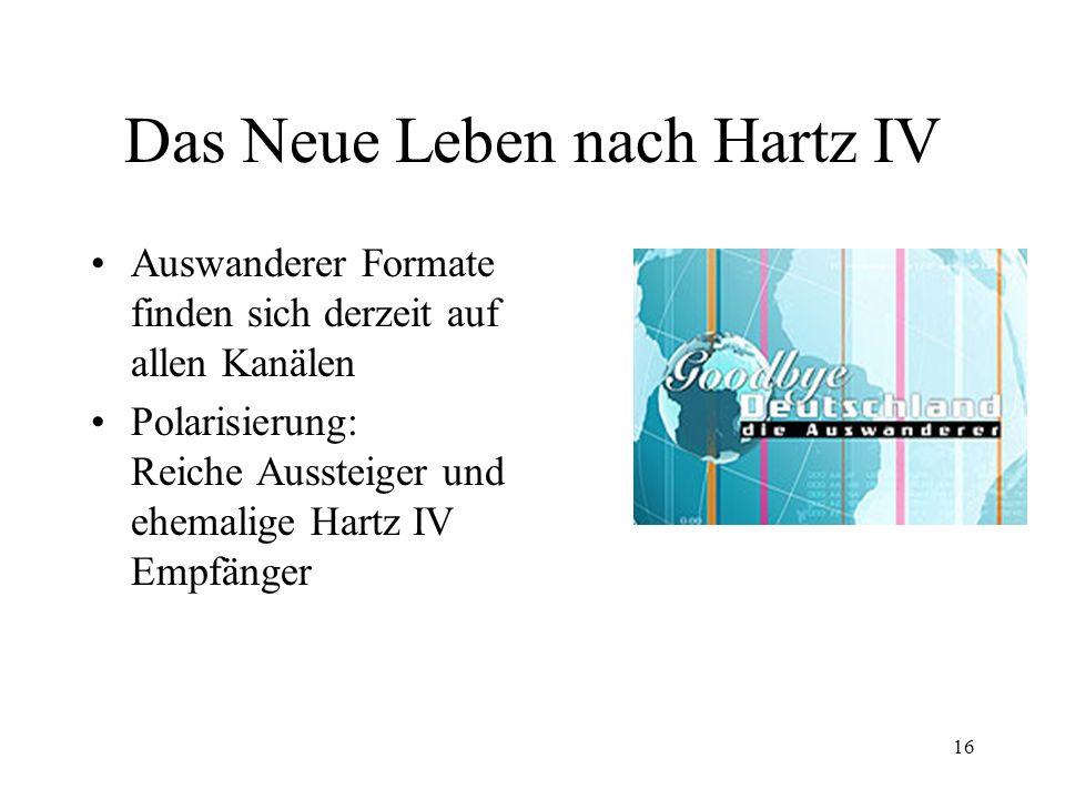 Das Neue Leben nach Hartz IV