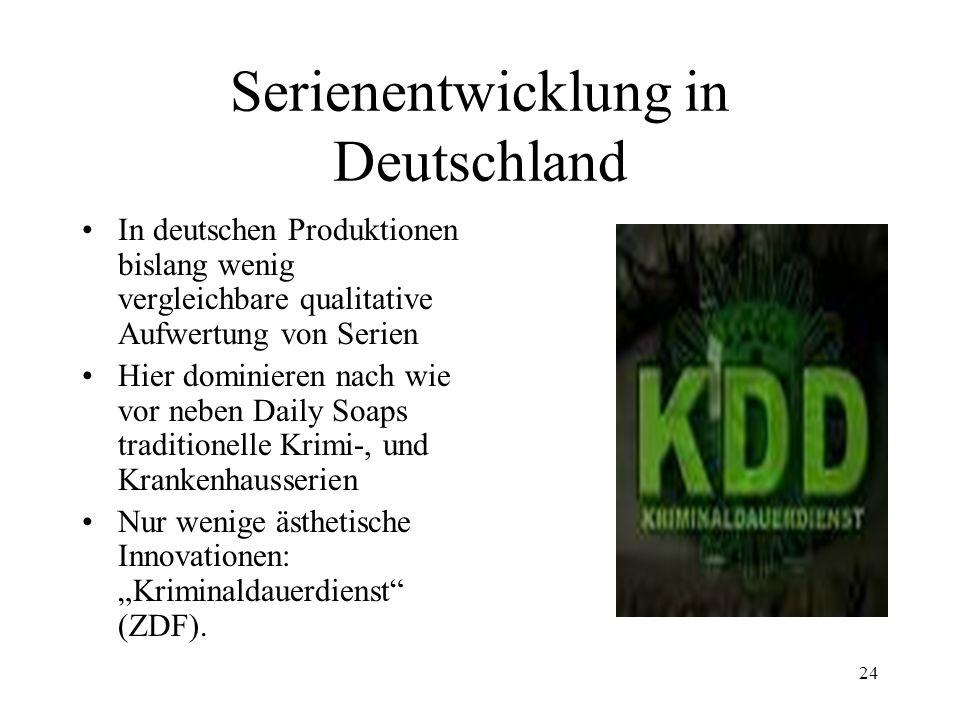 Serienentwicklung in Deutschland