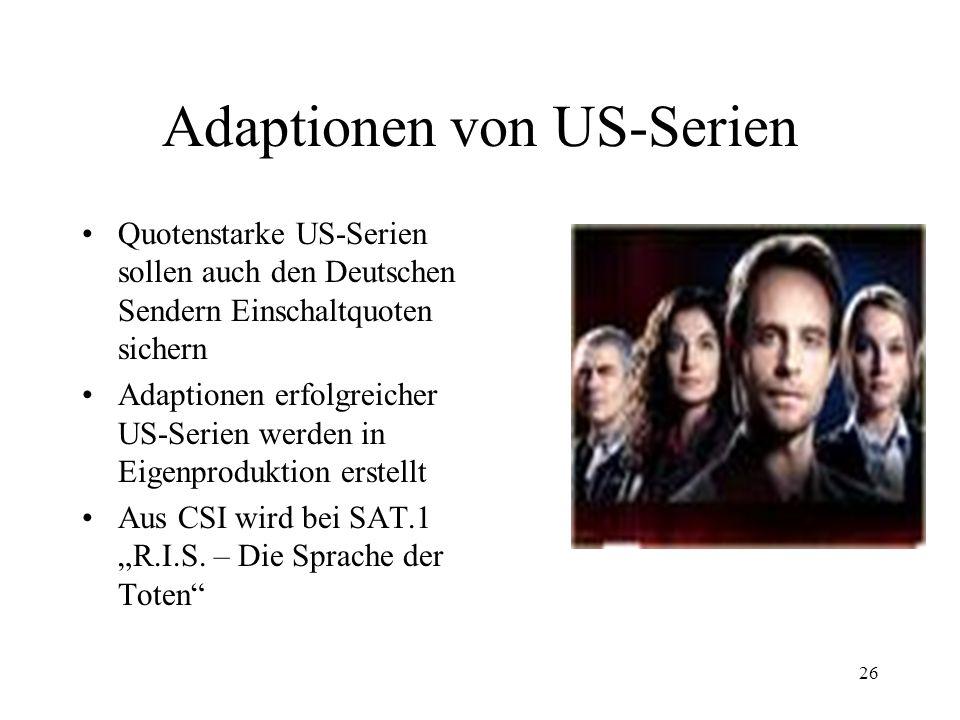 Adaptionen von US-Serien