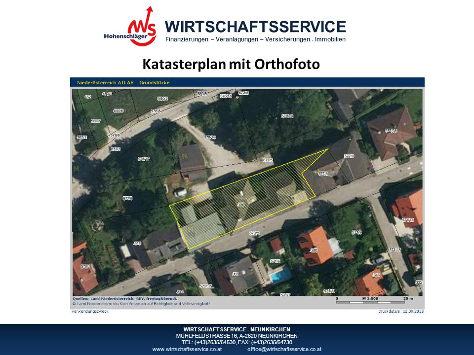 Katasterplan mit Orthofoto