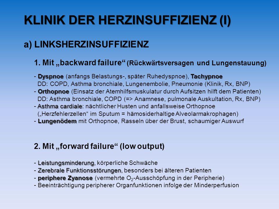 KLINIK DER HERZINSUFFIZIENZ (I)