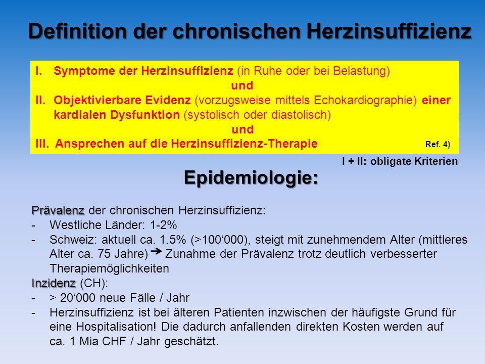 Definition der chronischen Herzinsuffizienz