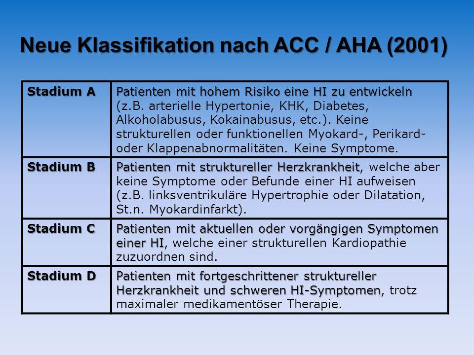 Neue Klassifikation nach ACC / AHA (2001)