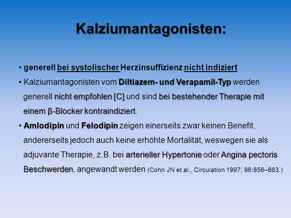 Kalziumantagonisten: