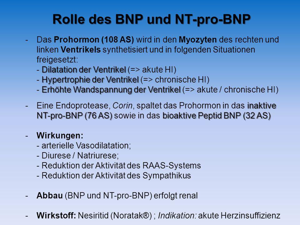 Rolle des BNP und NT-pro-BNP