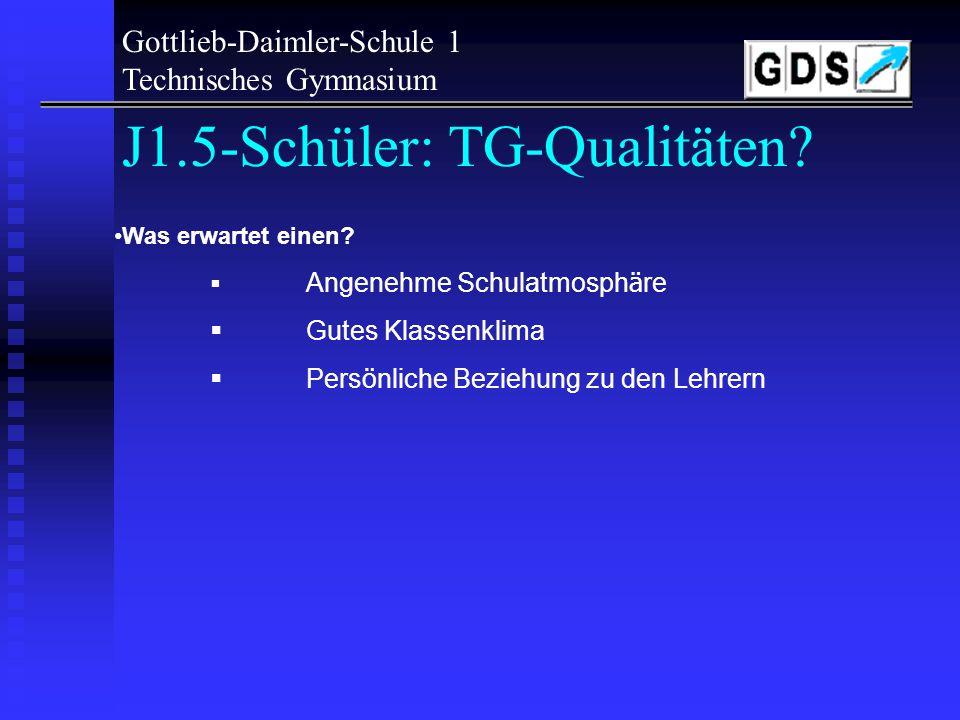 J1.5-Schüler: TG-Qualitäten