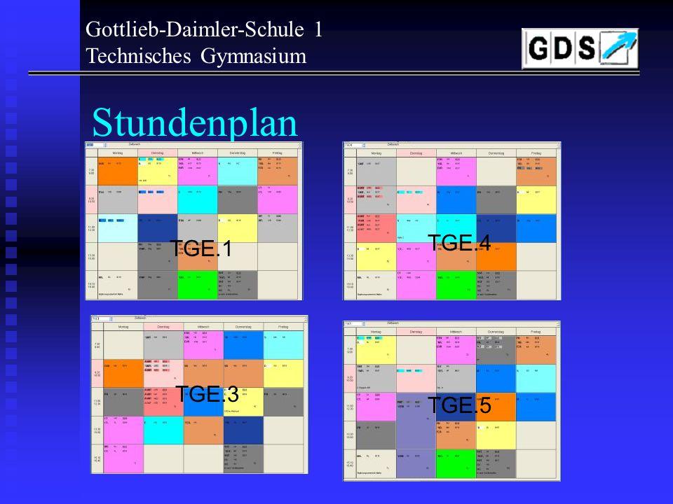 Stundenplan Gottlieb-Daimler-Schule 1 Technisches Gymnasium TGE.4
