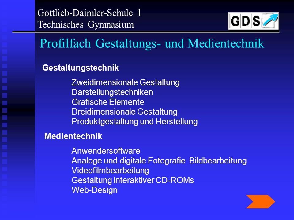 Profilfach Gestaltungs- und Medientechnik