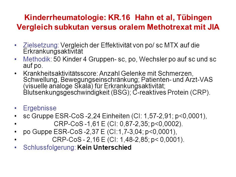 Kinderrheumatologie: KR