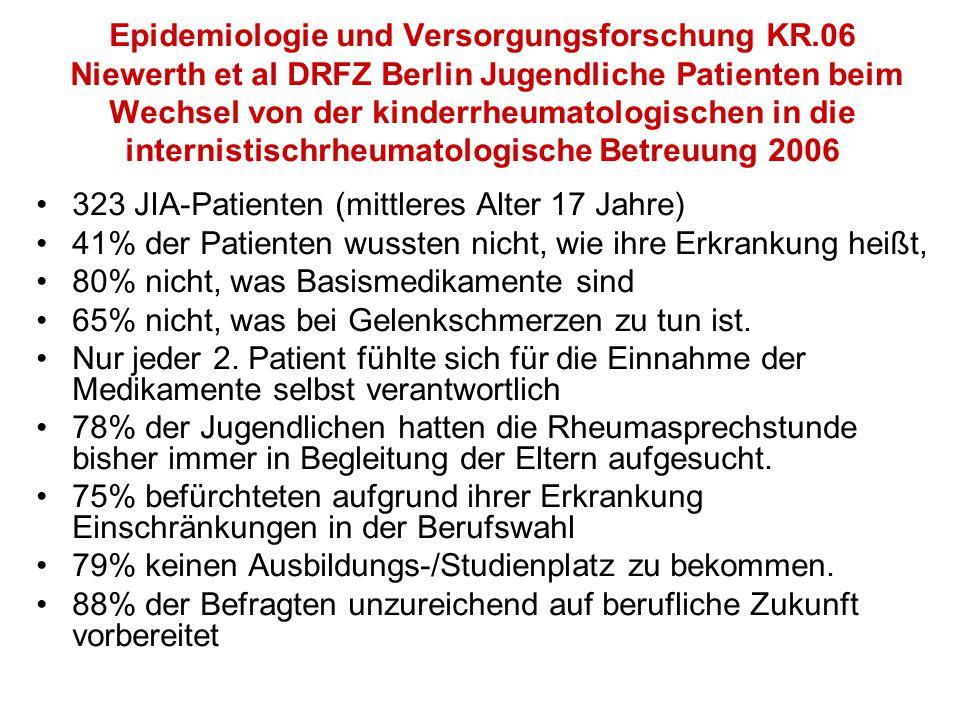 Epidemiologie und Versorgungsforschung KR