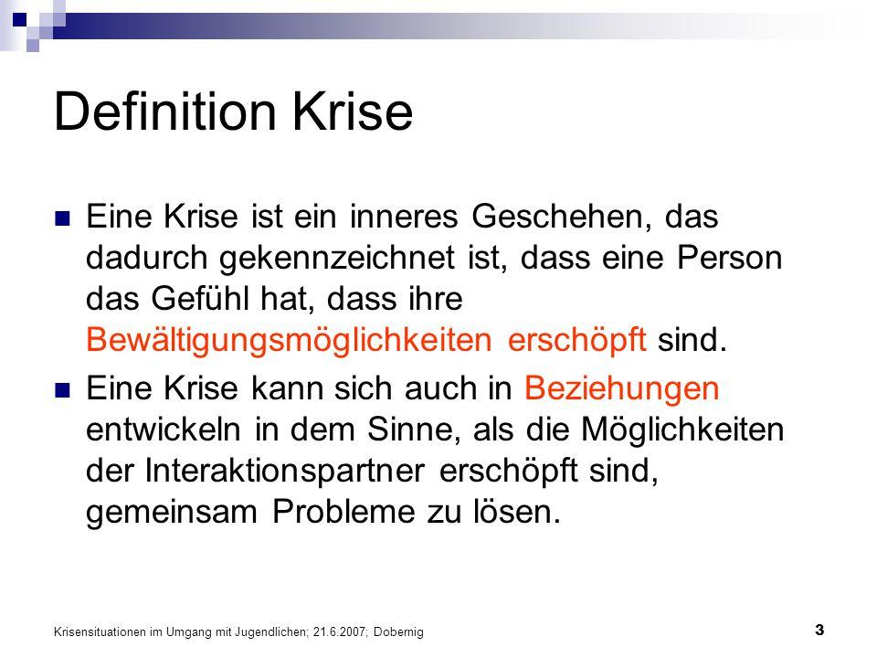 Stressbewältigung Schulungskonzept Busfahrer. Definition Krise.