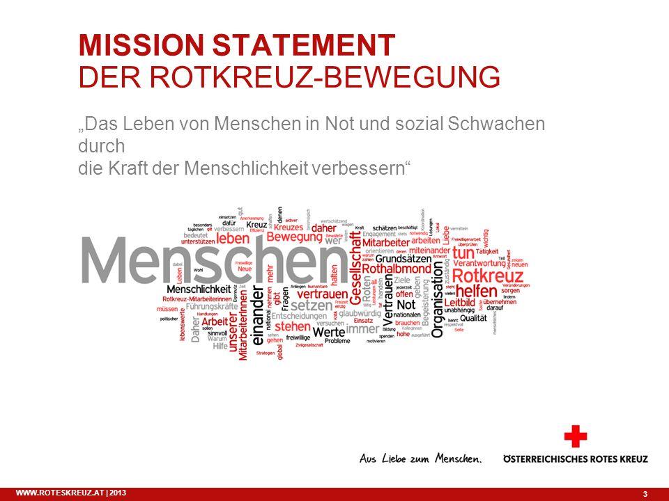 MISSION STATEMENT DER ROTKREUZ-BEWEGUNG