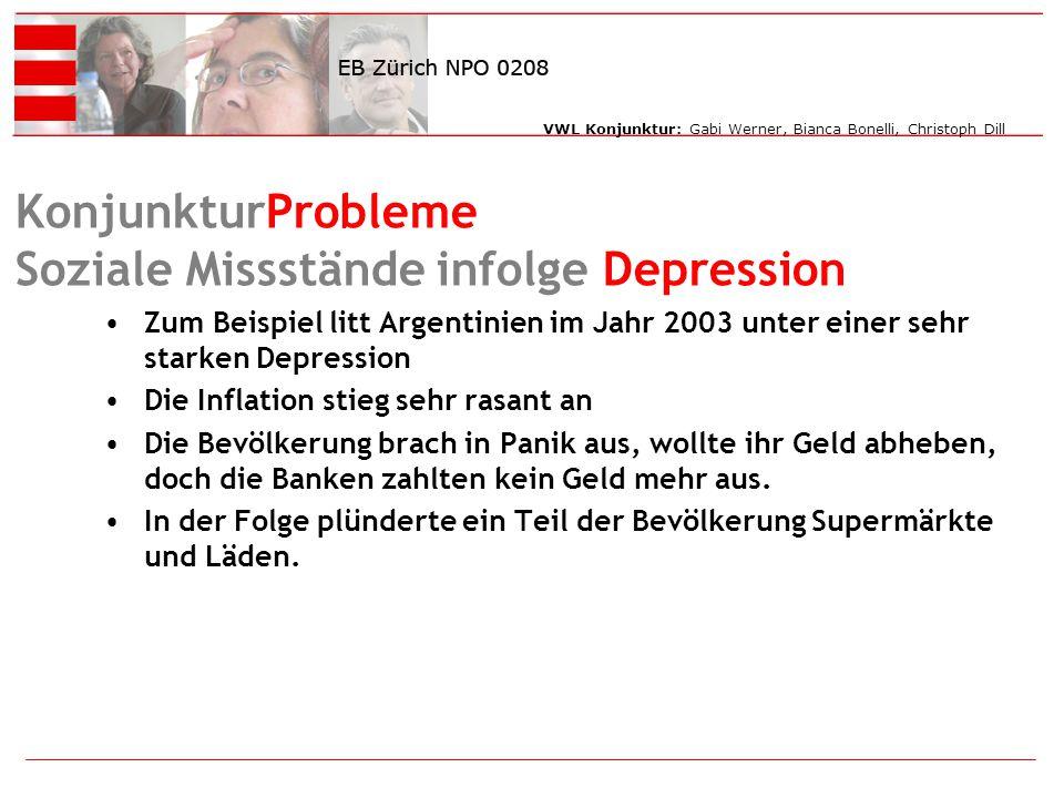 KonjunkturProbleme Soziale Missstände infolge Depression
