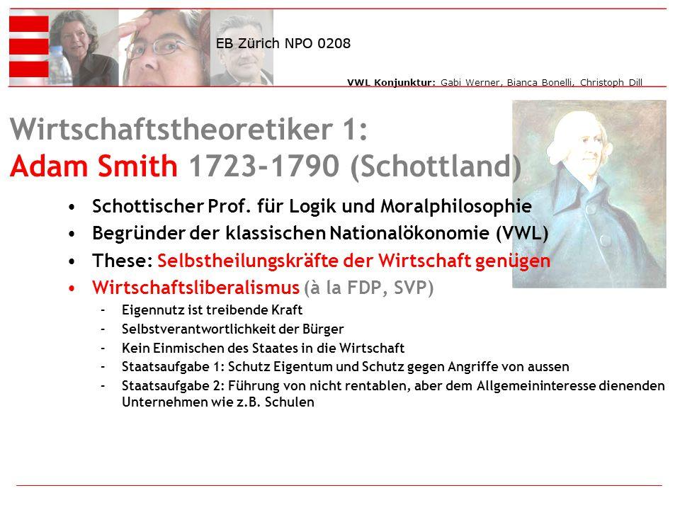Wirtschaftstheoretiker 1: Adam Smith 1723-1790 (Schottland)