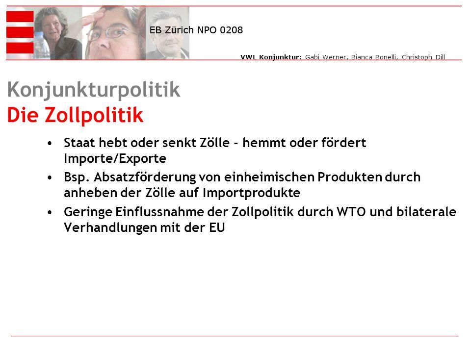 Konjunkturpolitik Die Zollpolitik