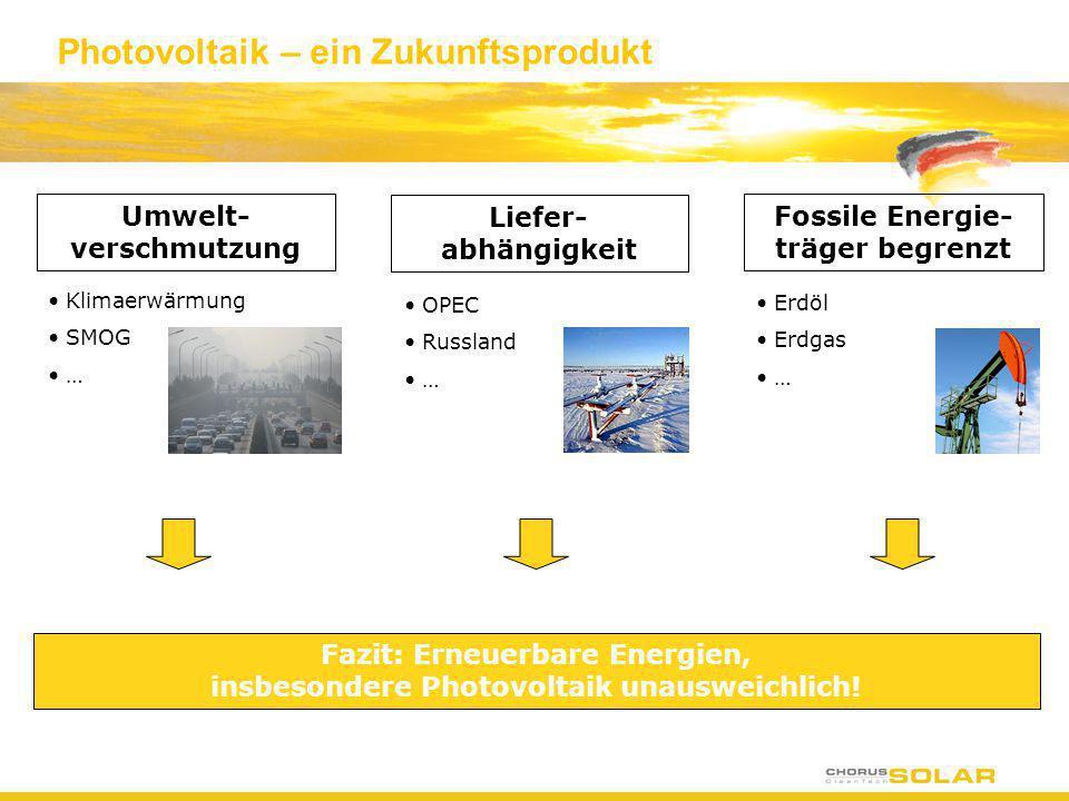 Photovoltaik – ein Zukunftsprodukt