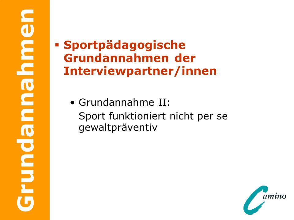 Sportpädagogische Grundannahmen der Interviewpartner/innen