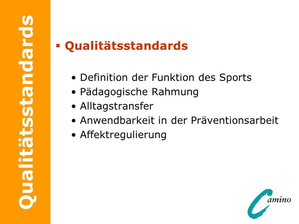Qualitätsstandards Qualitätsstandards