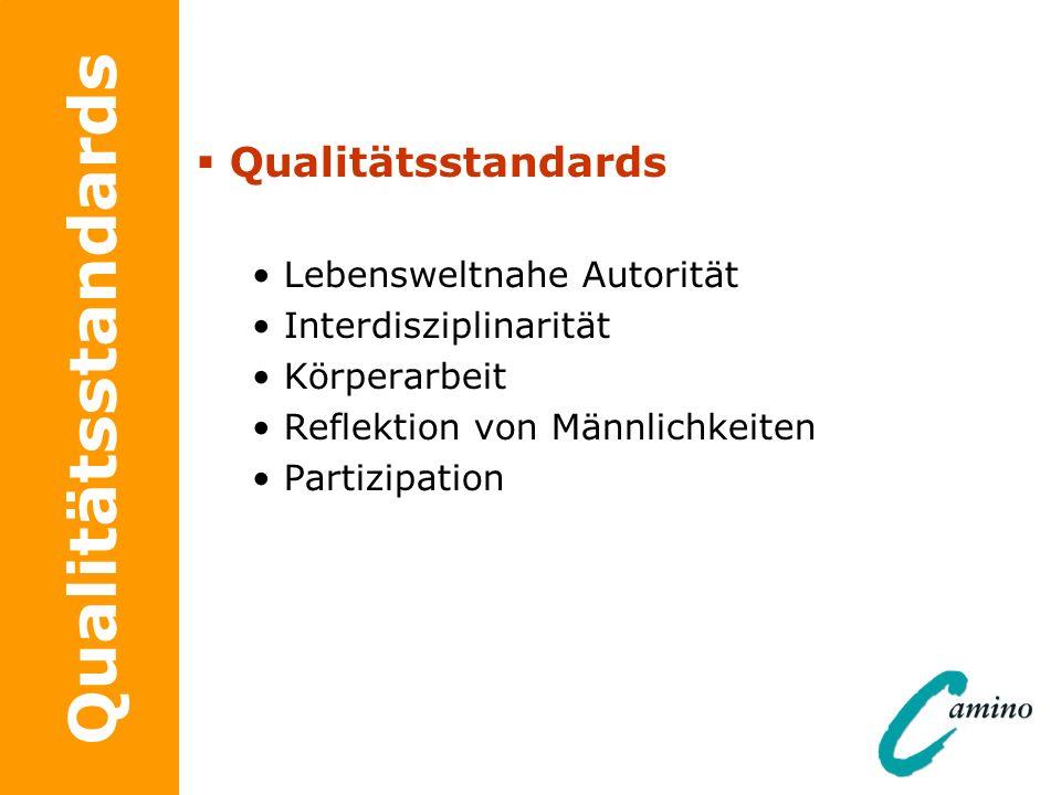 Qualitätsstandards Qualitätsstandards Lebensweltnahe Autorität