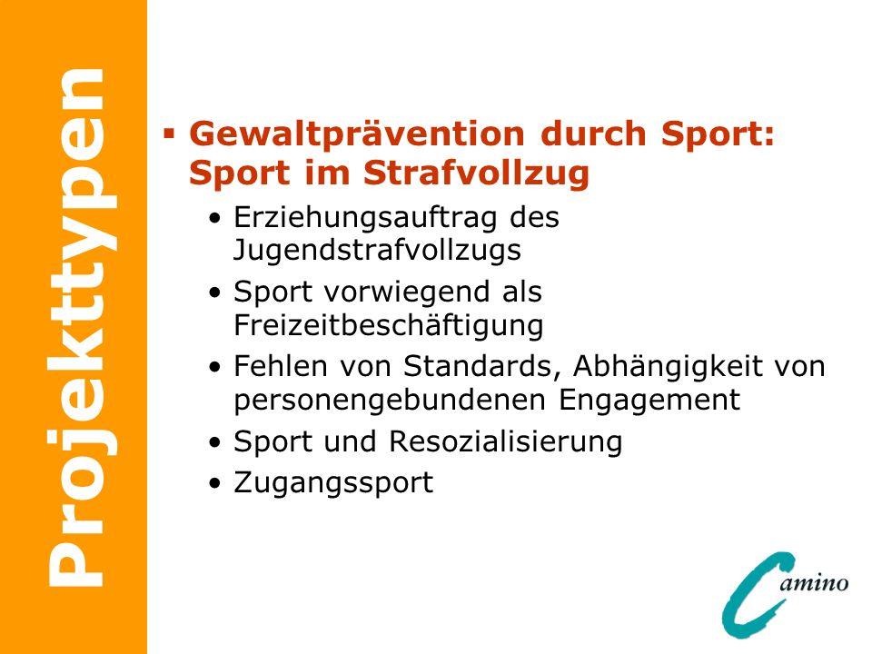 Projekttypen Gewaltprävention durch Sport: Sport im Strafvollzug