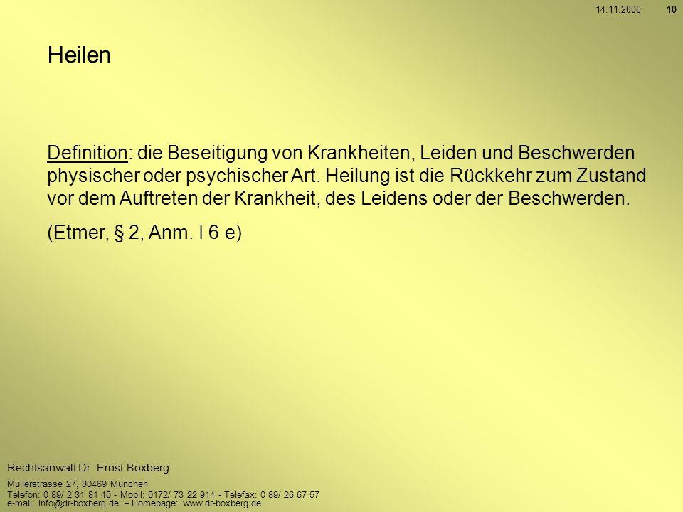 14.11.2006 Heilen.
