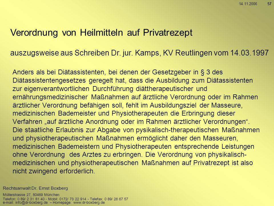 Verordnung von Heilmitteln auf Privatrezept