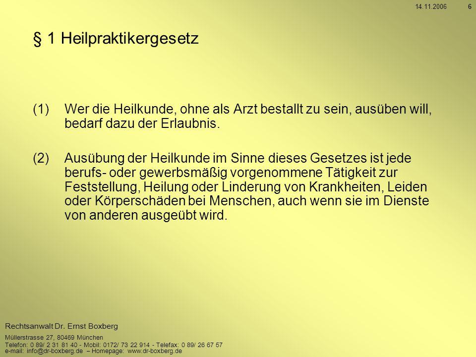 § 1 Heilpraktikergesetz