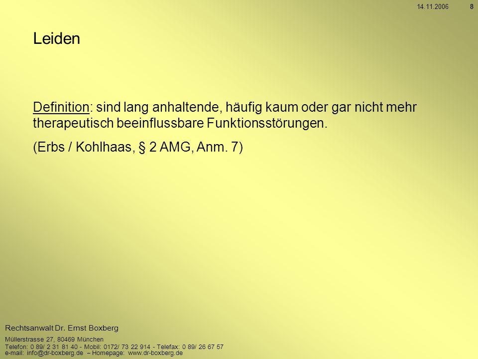 14.11.2006 Leiden. Definition: sind lang anhaltende, häufig kaum oder gar nicht mehr therapeutisch beeinflussbare Funktionsstörungen.