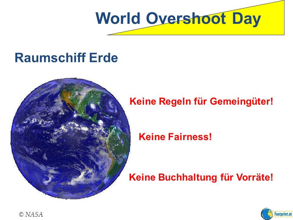 World Overshoot Day Raumschiff Erde Keine Regeln für Gemeingüter!
