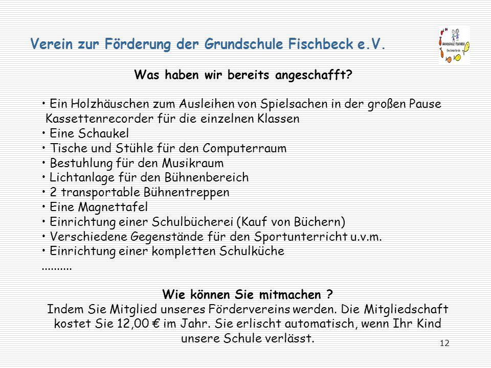 Verein zur Förderung der Grundschule Fischbeck e.V.