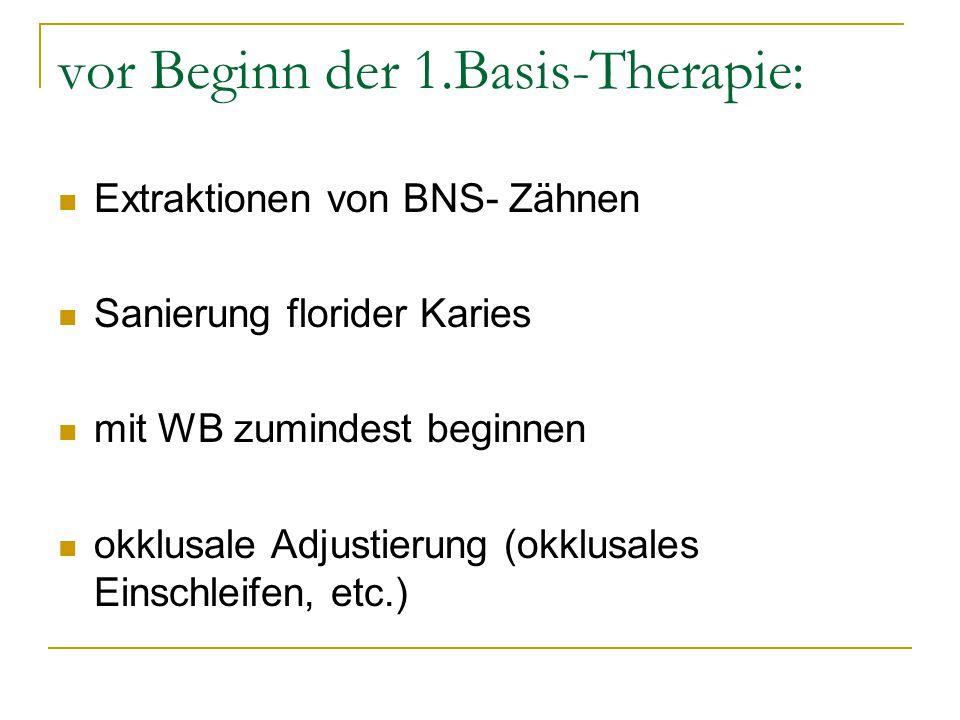 vor Beginn der 1.Basis-Therapie: