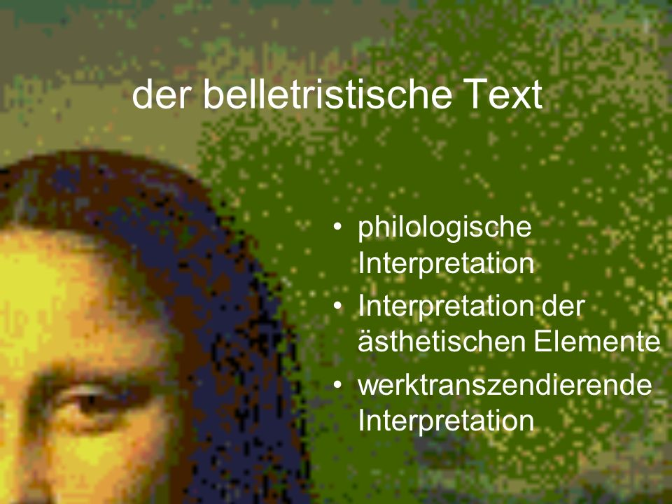 der belletristische Text