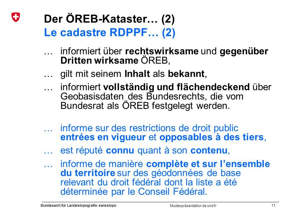 Der ÖREB-Kataster… (2) Le cadastre RDPPF… (2)