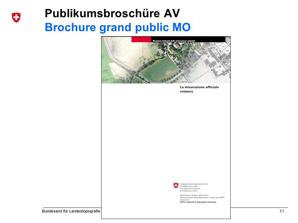 Publikumsbroschüre AV Brochure grand public MO