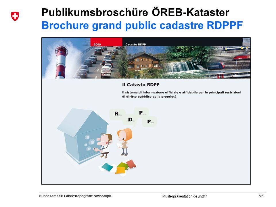 Publikumsbroschüre ÖREB-Kataster Brochure grand public cadastre RDPPF