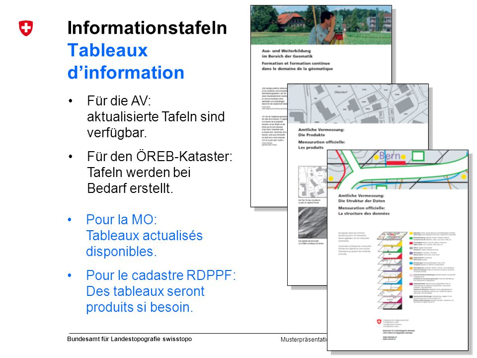 Informationstafeln Tableaux d'information