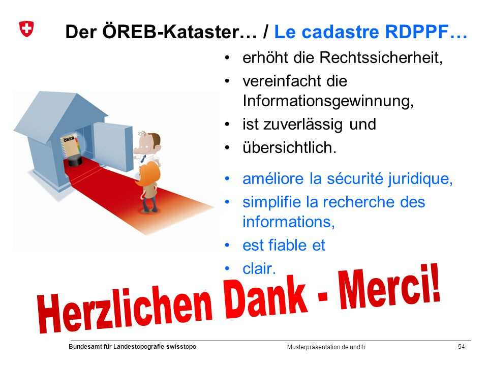 Der ÖREB-Kataster… / Le cadastre RDPPF…