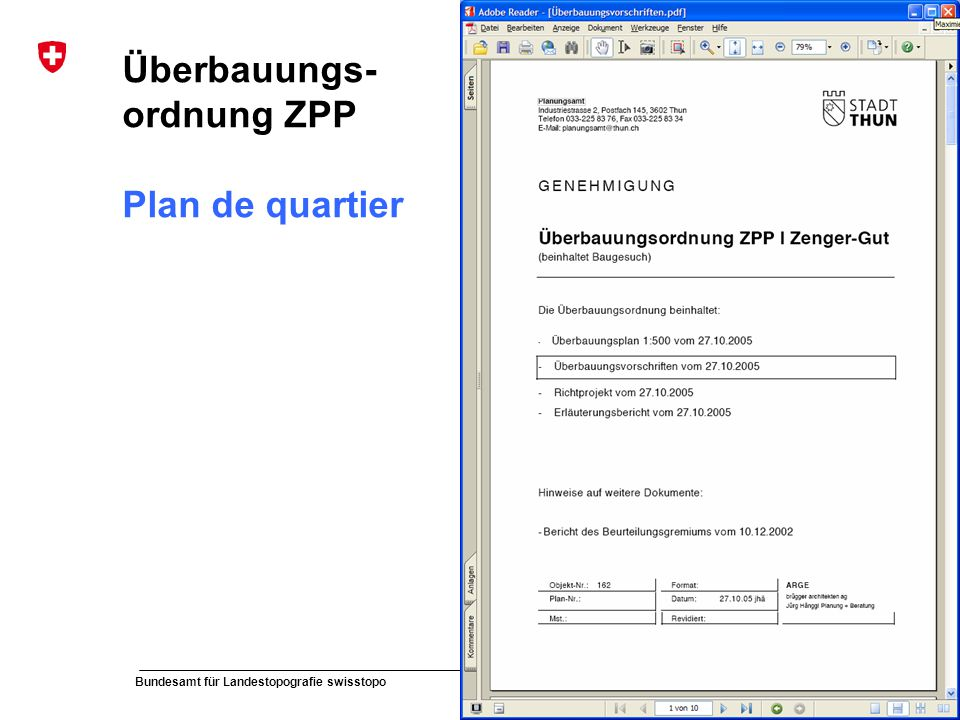 Überbauungs-ordnung ZPP Plan de quartier