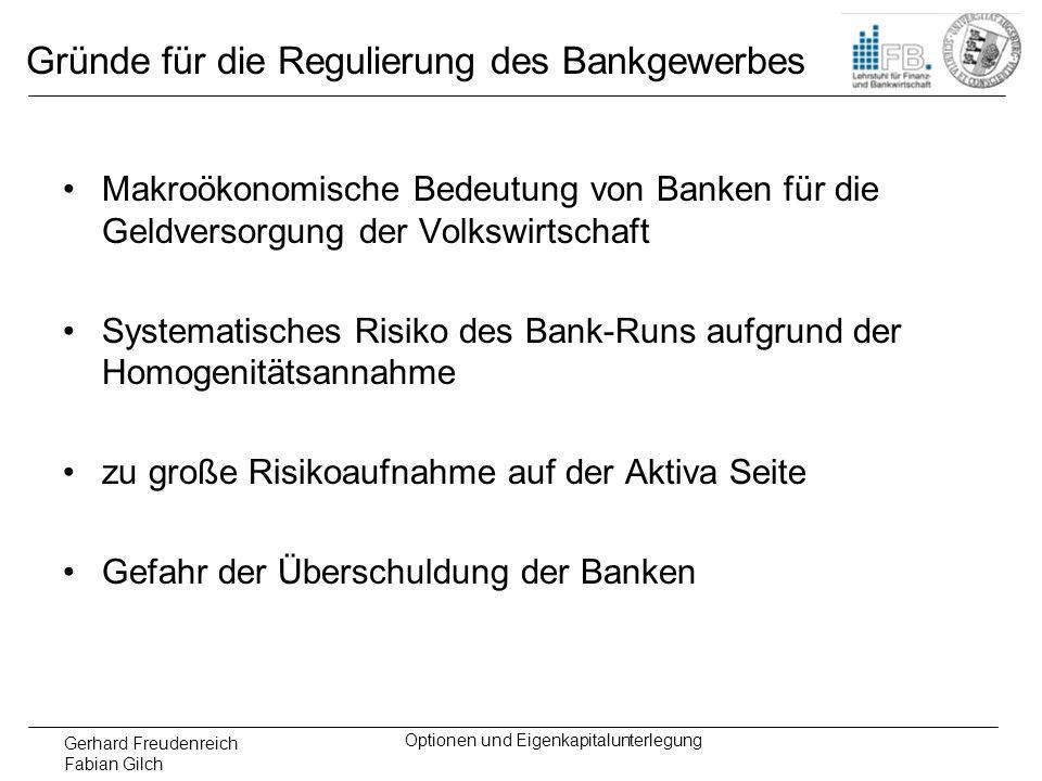 Gründe für die Regulierung des Bankgewerbes